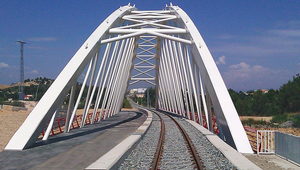 Puente Línea 5 Metro Valencia